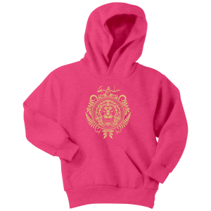 Harry Potter Vintage Gryffindor Badge Youth Hoodie - Youth Hoodie / Neon Pink / XS - Ineffable Shop