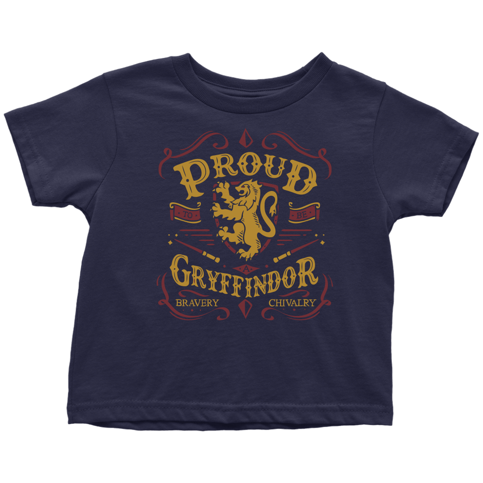 Gryffindor Pride Toddler T-Shirt - Toddler T-Shirt / Navy Blue / 2T - Ineffable Shop