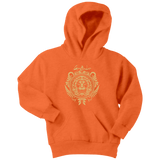 Harry Potter Vintage Gryffindor Badge Youth Hoodie - Youth Hoodie / Neon Orange / XS - Ineffable Shop