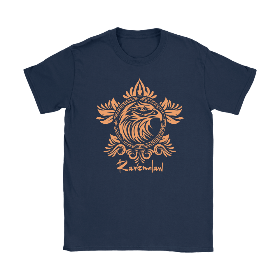Harry Potter Vintage Ravenclaw Gildan Womens T-Shirt - Gildan Womens T-Shirt / Navy / S - Ineffable Shop