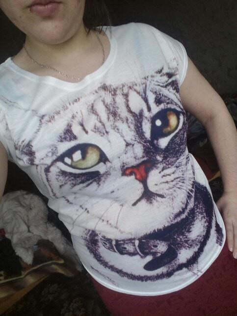 2017 New Fashion Vintage T-shirt - Meow T-shirt - - Ineffable Shop