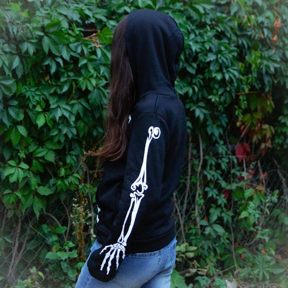 Creative Skull Women Zip Hoodies - - Ineffable Shop