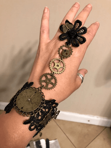 Steampunk Lace Bracelet - - Ineffable Shop