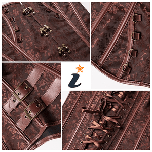 Steampunk Faux Leather Corset - - Ineffable Shop