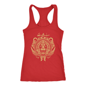 Harry Potter Vintage Gryffindor Badge Next Level Racerback Tank - Next Level Racerback Tank / Red / XS - Ineffable Shop