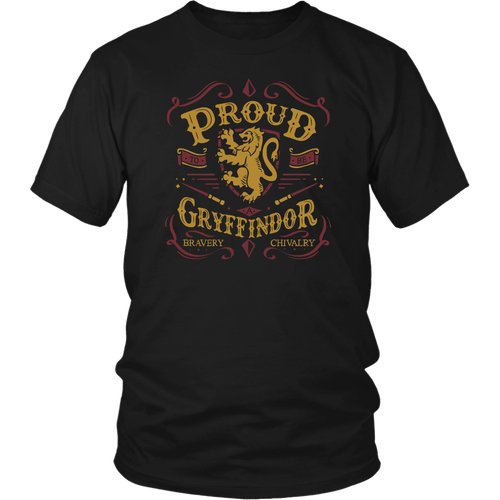 Gryffindor Pride District Unisex Shirt - District Unisex Shirt / Black / S - Ineffable Shop