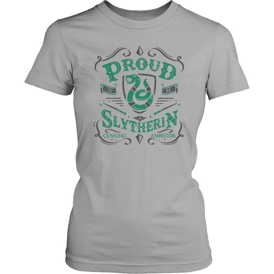 Slytherin District Womens Shirt - District Womens Shirt / Silver / XS - Ineffable Shop