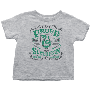 Slytherin Toddler T-Shirt - Toddler T-Shirt / Heather Grey / 2T - Ineffable Shop