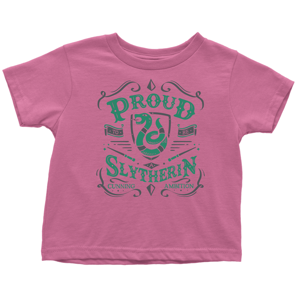 Slytherin Toddler T-Shirt - Toddler T-Shirt / Raspberry / 2T - Ineffable Shop