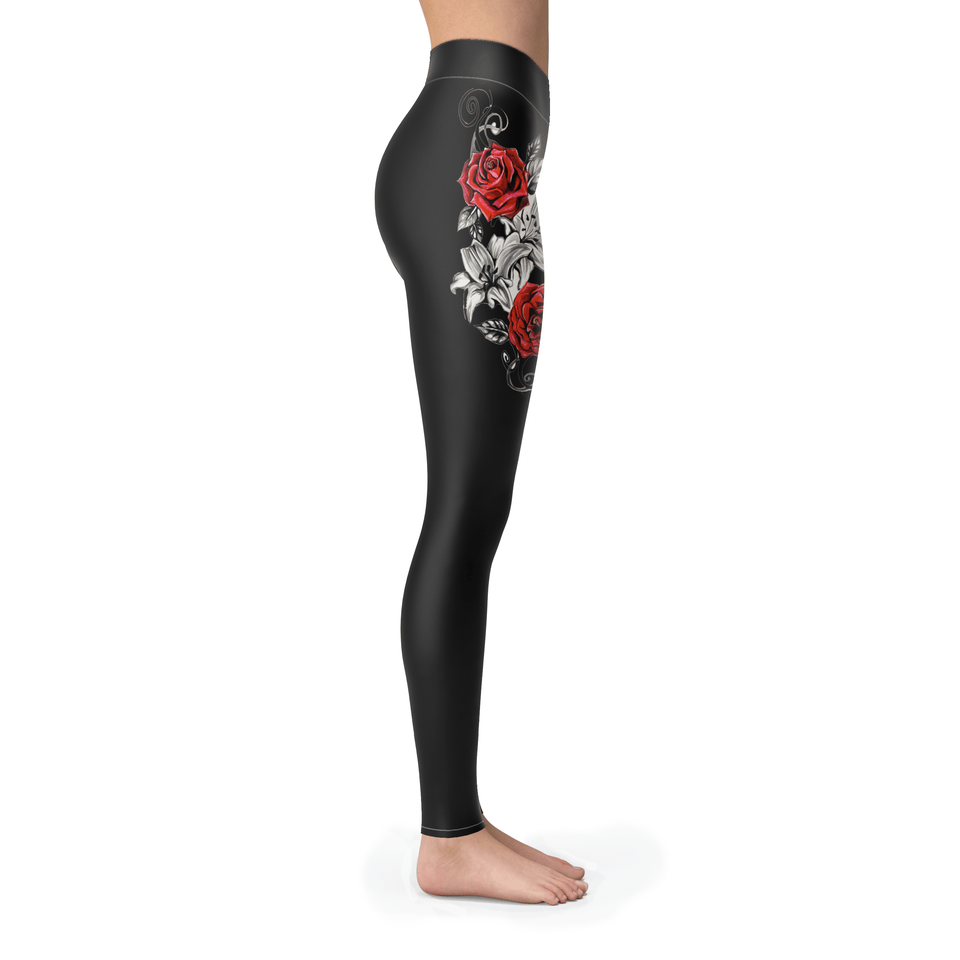 Black Rose Leggings - Leggings / S / NA - Ineffable Shop