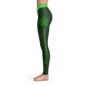 Happy Patrick's Day Leggings - - Ineffable Shop