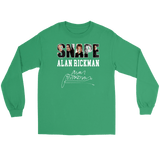 Harry Potter Alan Rickman Gildan Long Sleeve Tee - Gildan Long Sleeve Tee / Kelly Green / S - Ineffable Shop