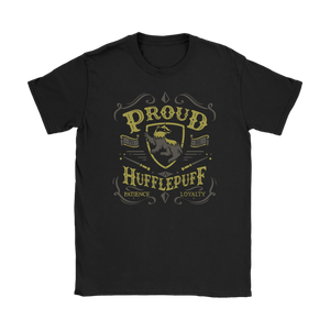 Hufflepuff Pride Gildan Womens T-Shirt - Gildan Womens T-Shirt / Black / S - Ineffable Shop