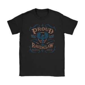 Ravenclaw Pride Gildan Womens T-Shirt - Gildan Womens T-Shirt / Black / S - Ineffable Shop