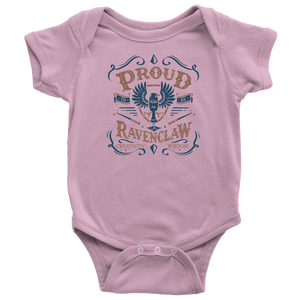 Ravenclaw Pride Baby Bodysuit - Baby Bodysuit / Pink / NB - Ineffable Shop
