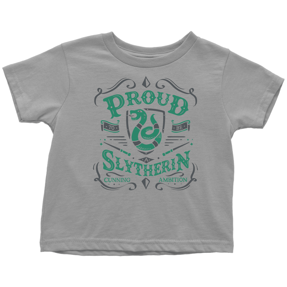 Slytherin Toddler T-Shirt - Toddler T-Shirt / Slate / 2T - Ineffable Shop