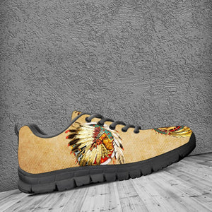 Native American And Wolf Women's Running Shoes NT106 - - Ineffable Shop