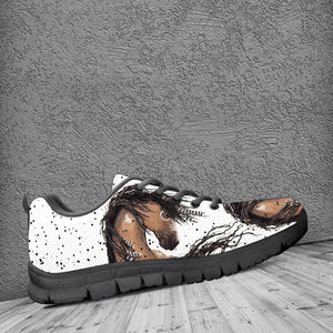Native American Horse Kid's Running Shoes NT105 - - Ineffable Shop