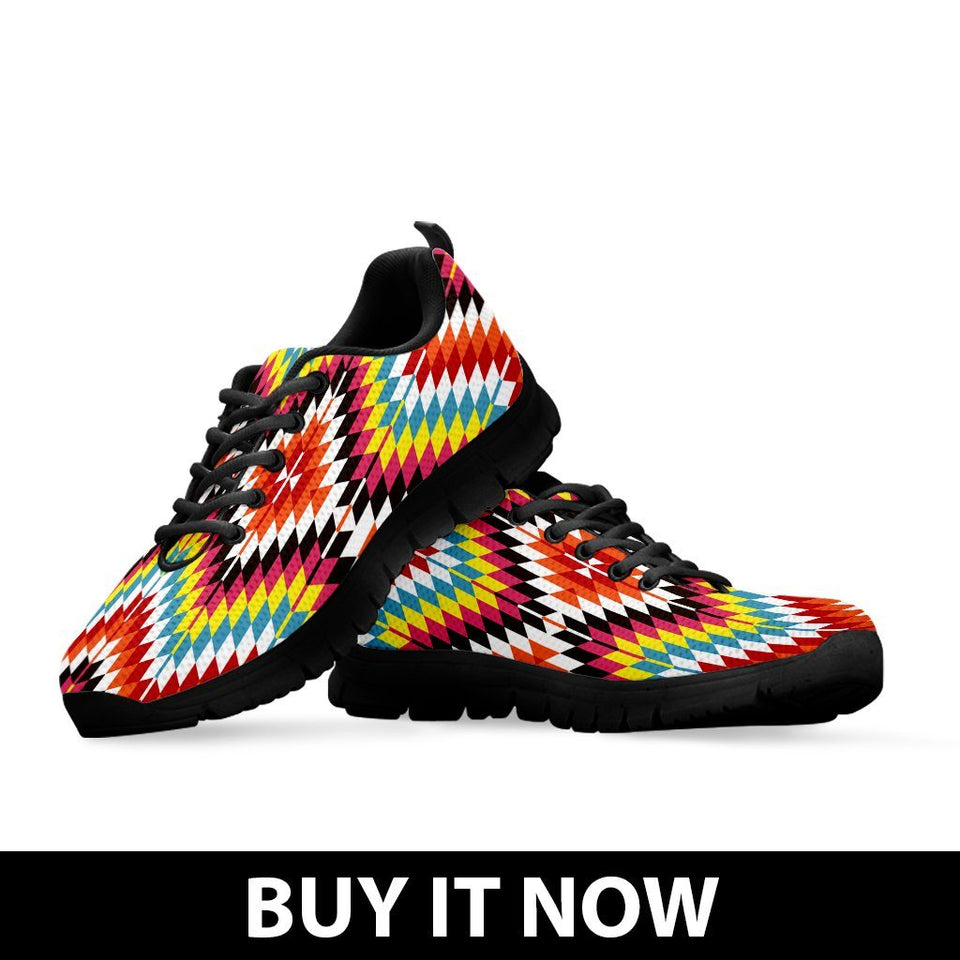 Native American Kid's Sneaker Design NT062 - - Ineffable Shop