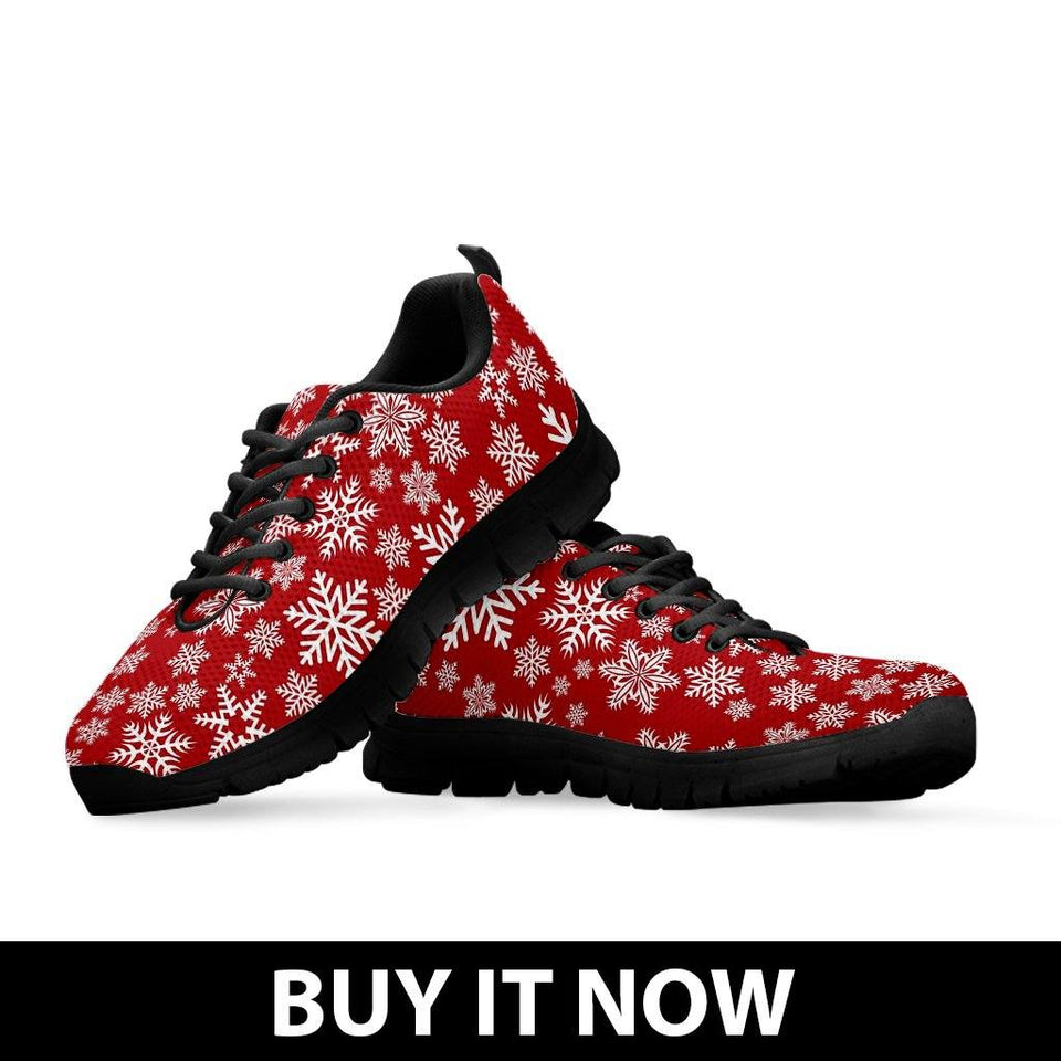 Christmas Red Snow Kid's Running Shoes - - Ineffable Shop