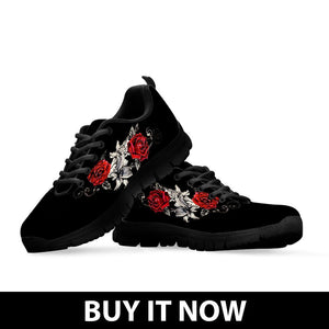 Black Rose Kid's Running Shoes - Ineffable Shop