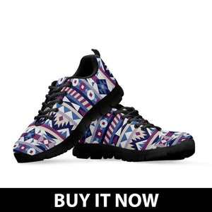 Native American Purple Pattern Men's Sneakers NT082 - Ineffable Shop