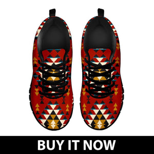 Native American Indian Pattern Women's Running Shoes NT028 - - Ineffable Shop