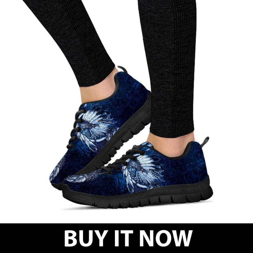 Native American Wolf Women's Running Shoes NT098 - - Ineffable Shop