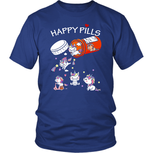 Unicorn Happy Pills - District Unisex Shirt / Royal Blue / S - Ineffable Shop