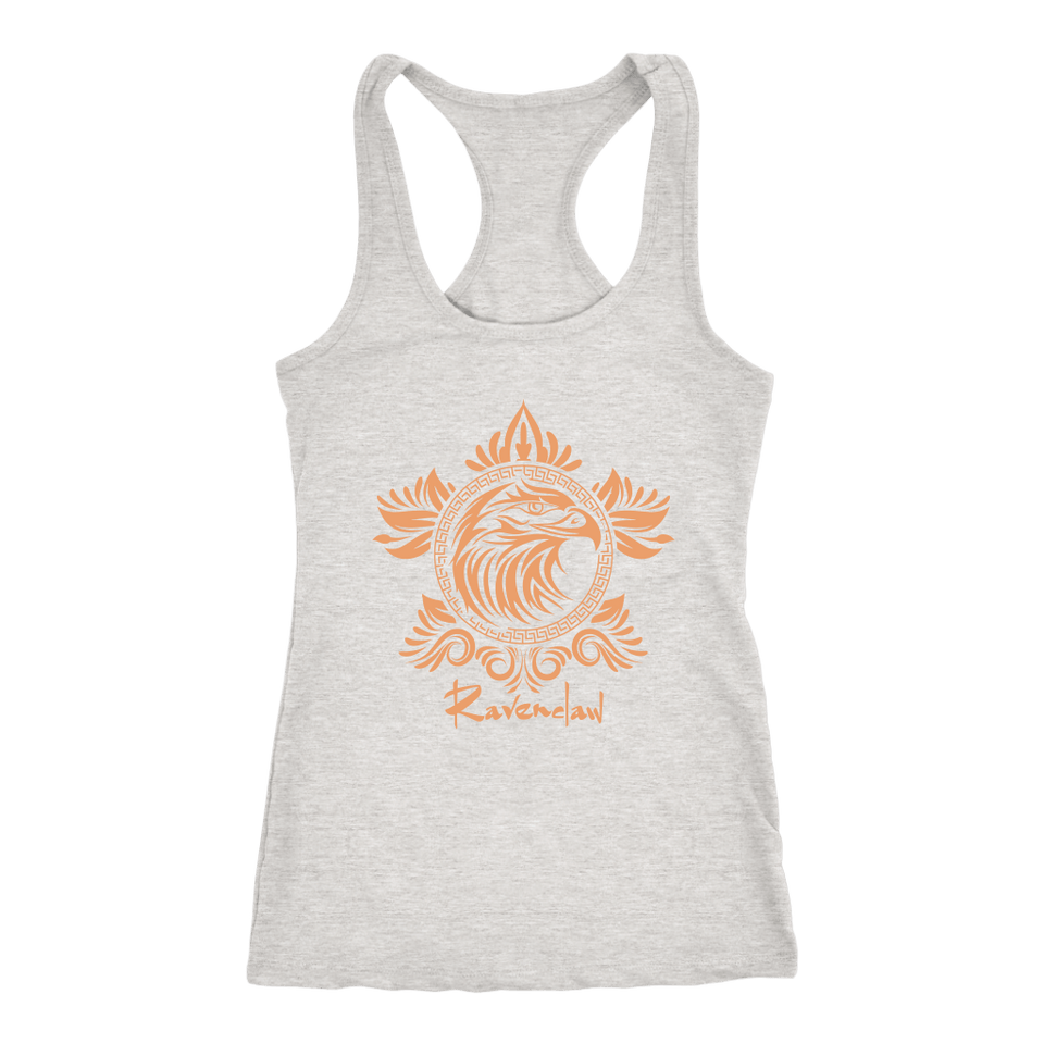 Harry Potter Vintage Ravenclaw Next Level Racerback Tank - Next Level Racerback Tank / Heather Grey / XS - Ineffable Shop