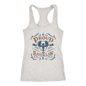 Ravenclaw Pride Next Level Racerback Tank - Next Level Racerback Tank / Heather Grey / XS - Ineffable Shop