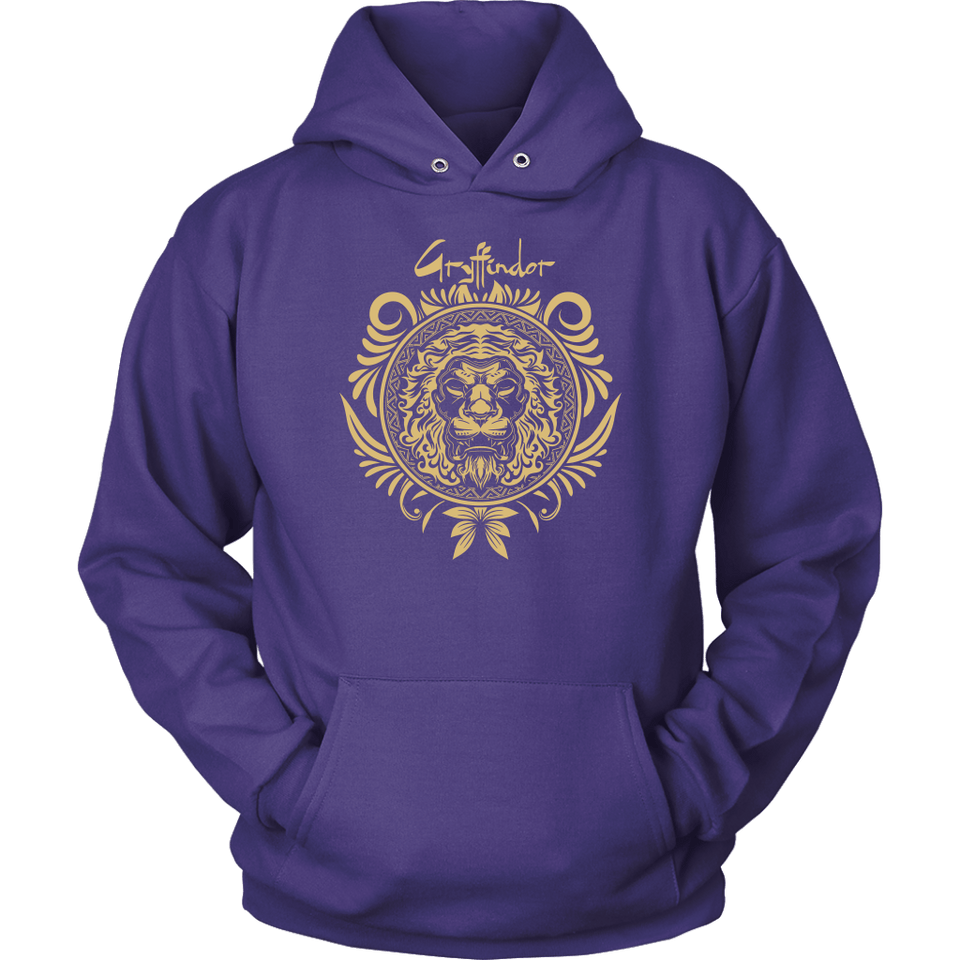Harry Potter Vintage Gryffindor Badge Unisex Hoodie - Unisex Hoodie / Purple / S - Ineffable Shop