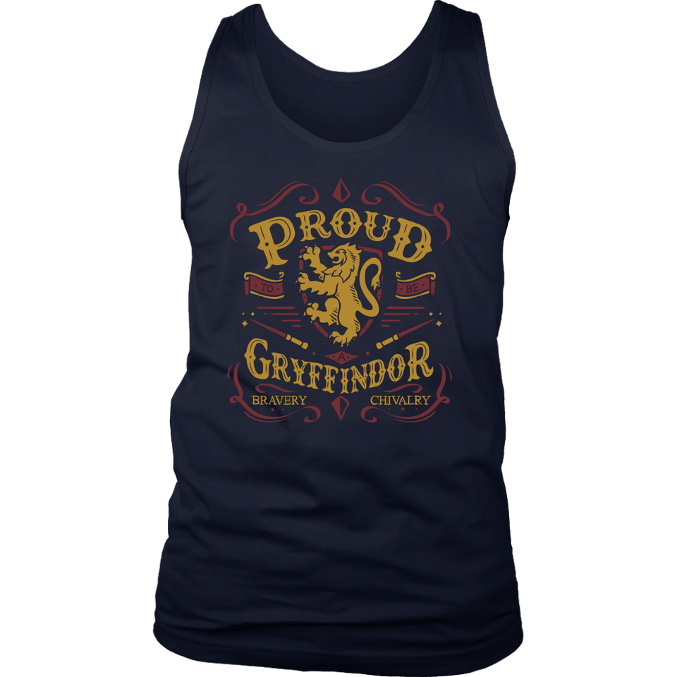 Gryffindor Pride District Mens Tank - District Mens Tank / Navy / S - Ineffable Shop