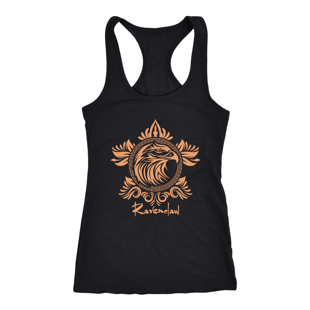 Harry Potter Vintage Ravenclaw Next Level Racerback Tank - Next Level Racerback Tank / Black / XS - Ineffable Shop