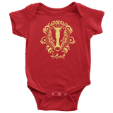 Harry Potter Vintage Hufflepuff Baby Bodysuit - Baby Bodysuit / Red / NB - Ineffable Shop