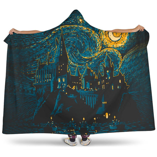 Harry Potter Hogwarts Night Hooded Blanket - - Ineffable Shop