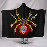 "Steampunk Spider Hooded Blanket - Hooded Blanket / Youth 60""x45"" - Ineffable Shop"