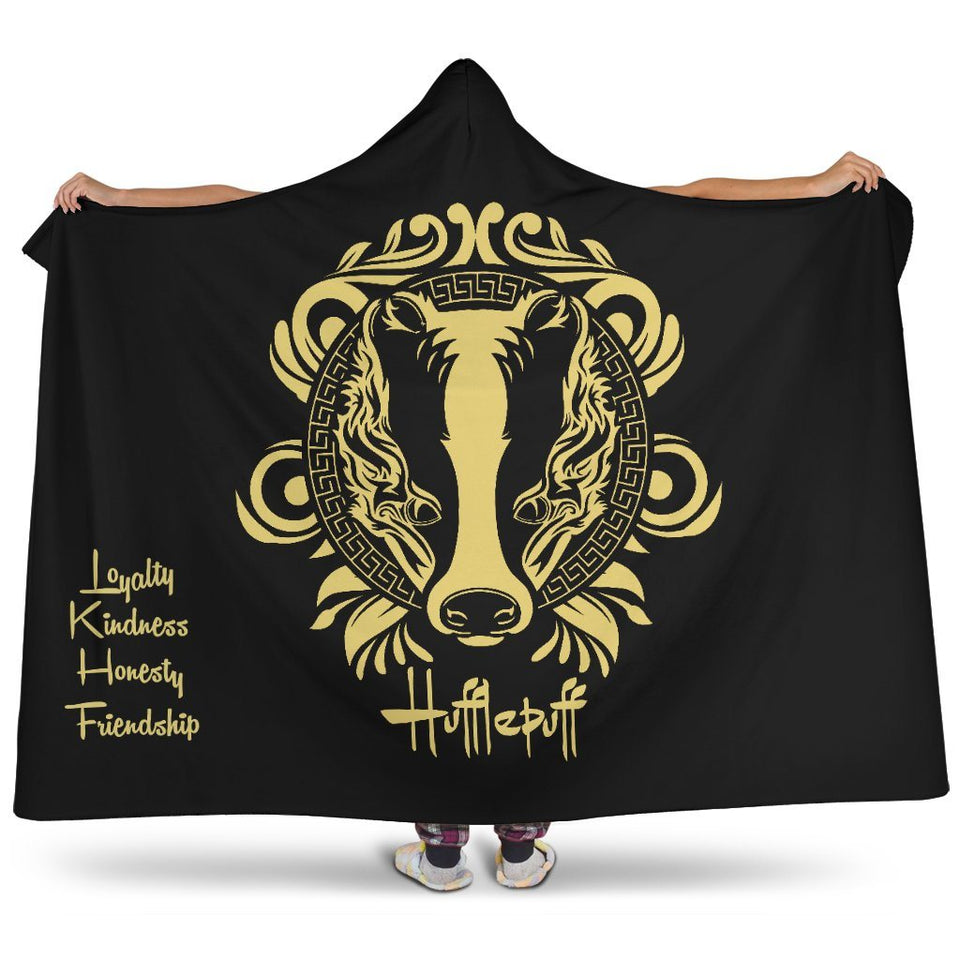 Harry Potter Hufflepuff Hooded Blanket - - Ineffable Shop