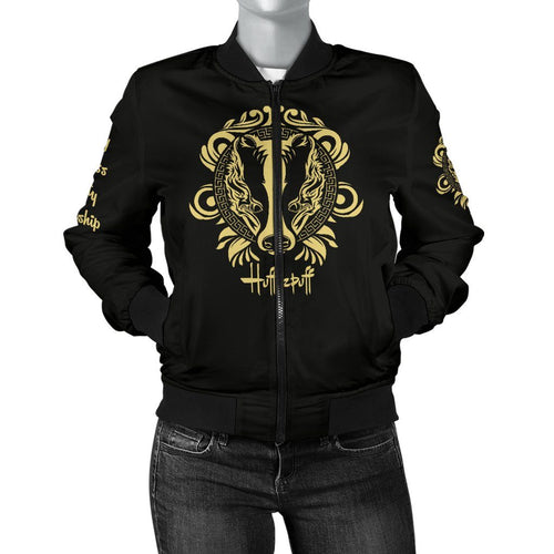 Hufflepuff Women's Bomber Jacket - - Ineffable Shop