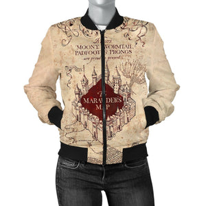 Marauder's Map Women's Bomber Jacket