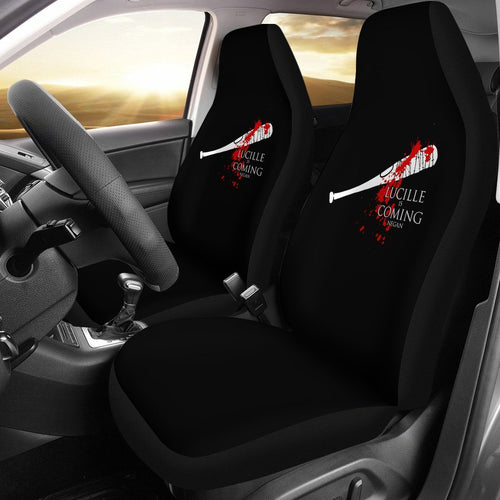 The Walking Dead Lucille Is Coming Car Seat Covers - Ineffable Shop