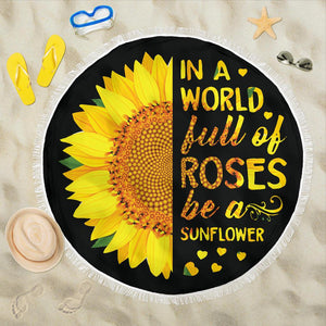 BE A SUNFLOWER Beach Blanket - - Ineffable Shop