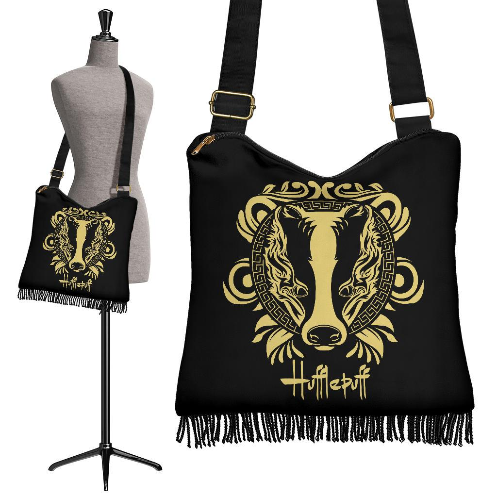 Hufflepuff Crossbody Boho Handbag - - Ineffable Shop