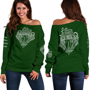 Slytherin Women's Off Shoulder Sweater - - Ineffable Shop
