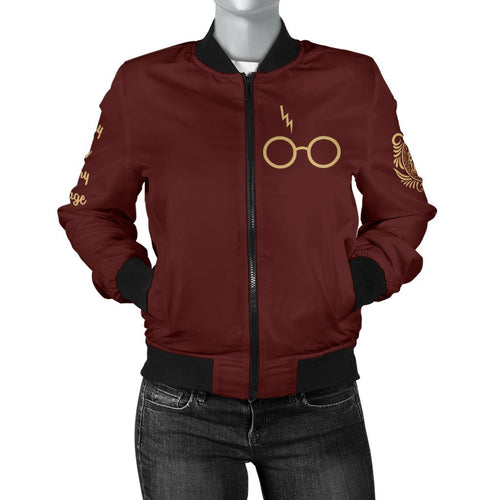 Gryffindor Women's Bomber Jacket - - Ineffable Shop