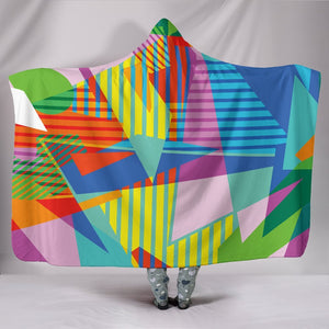 "Retro Vintage 80's & 90's Fashion 2 Hooded Blanket - Hooded Blanket / Youth 60""x45"" - Ineffable Shop"
