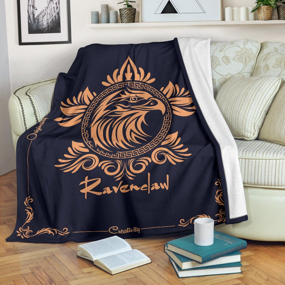 HARRY POTTER Ravenclaw VINTAGE STYLE Fleece BLANKET - - Ineffable Shop