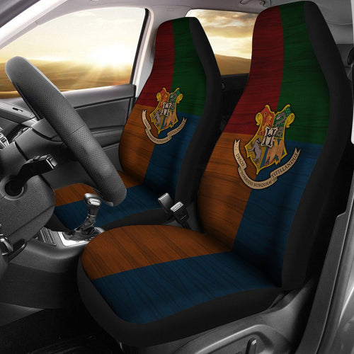Hogwarts Logo Car Seat Cover HP0064 - (SET OF 2) - - Ineffable Shop