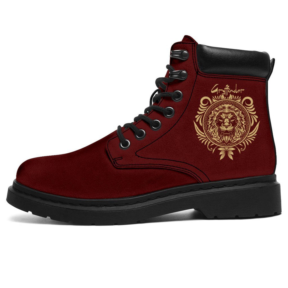 Gryffindor Women's Flat Ankle Boots - Ineffable Shop