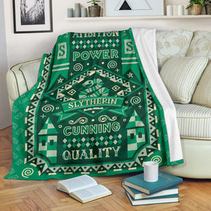 Harry Potter Slytherin Fleece Blanket - - Ineffable Shop